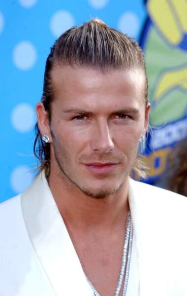 David Beckham en 2003: innovation avec une demi queue plaquée en arrière