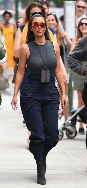 Kim Kardashian dans le quartier de SoHo, à New York