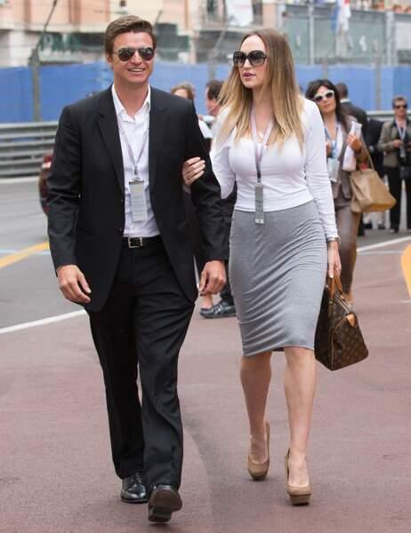 Son frère Gareth Wittstock, et sa compagne Roysin Galvin, ont également assisté au Grand Prix de F1