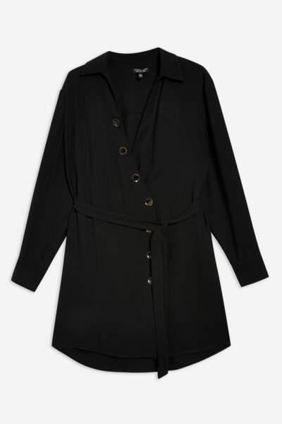 Robe chemise avec boutons en corne, Topshop, 52€