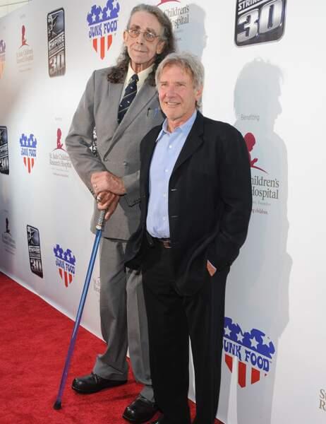 Le géant Peter Mayhew (avec Harrison Ford)