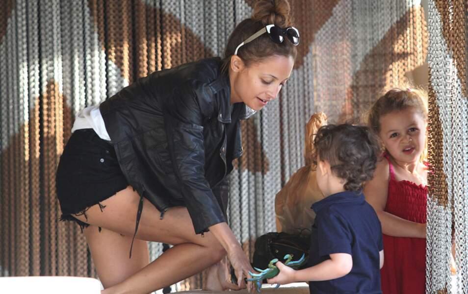 Nicole Richie avec sa fille Harlow et son fils Sparrow