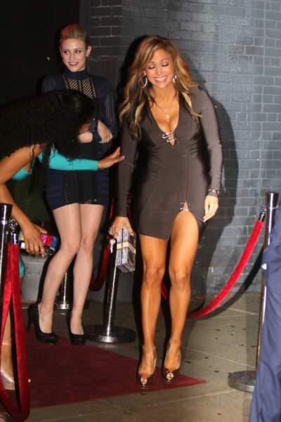 Jennifer Lopez sur le tournage de The Hustlers