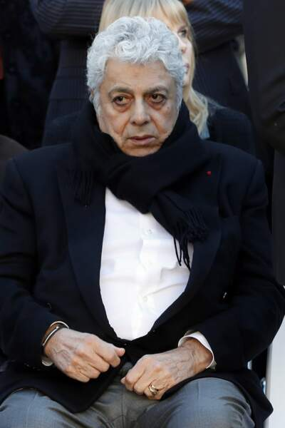 Enrico Macias à l'hommage national à Charles Aznavour