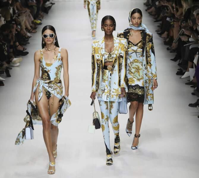 Le défilé Versace lors de la Fashion Week de Milan