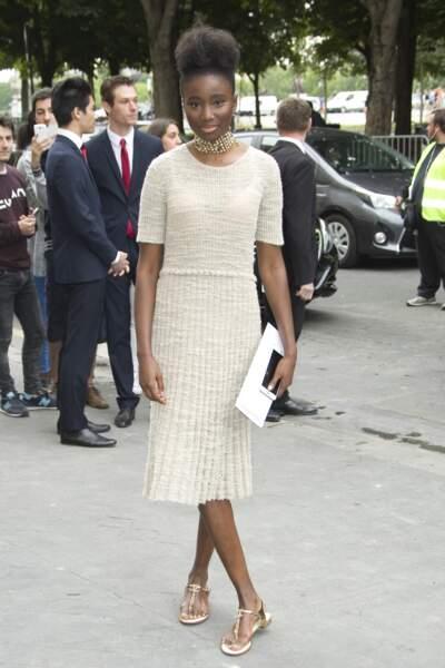 Défilé Chanel Haute Couture : Karidja Touré, la star du film Bande de filles