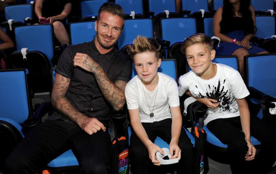 Hier, David Beckham, Romeo et Cruz étaient aux Kids' Choice Sports Awards