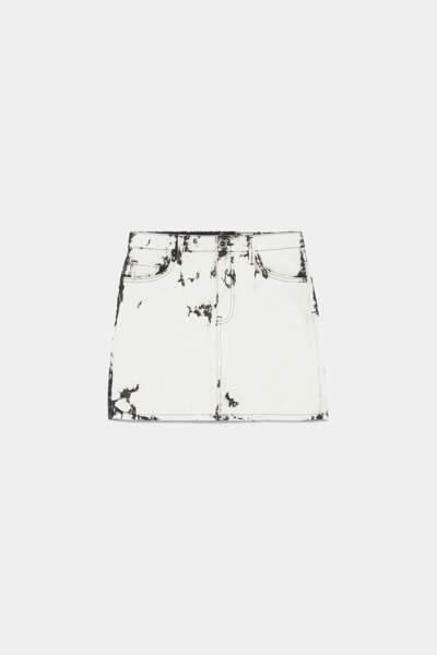 mini jupe tie and die, Zara, 19,95€