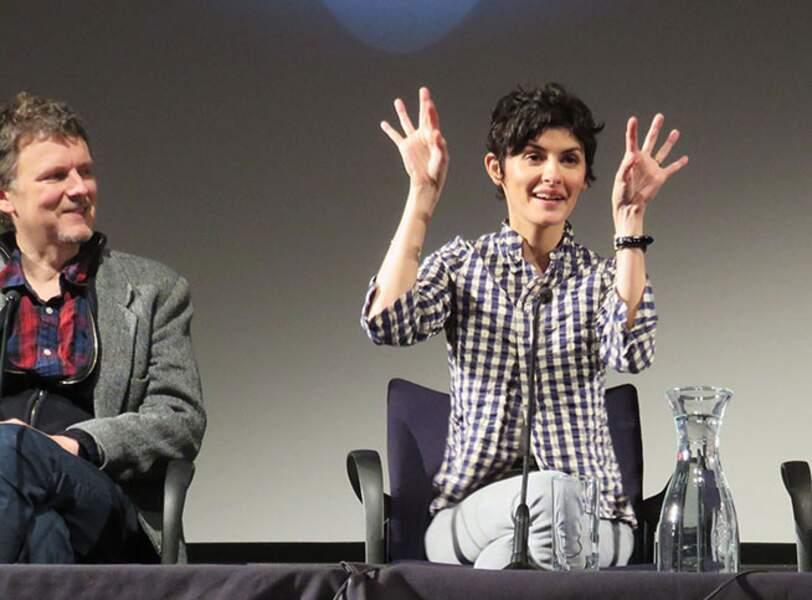 Michel Gondry et Audrey Tautou