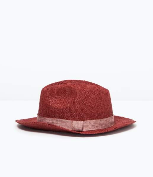 Chapeau en paille Zara - 17,95 €