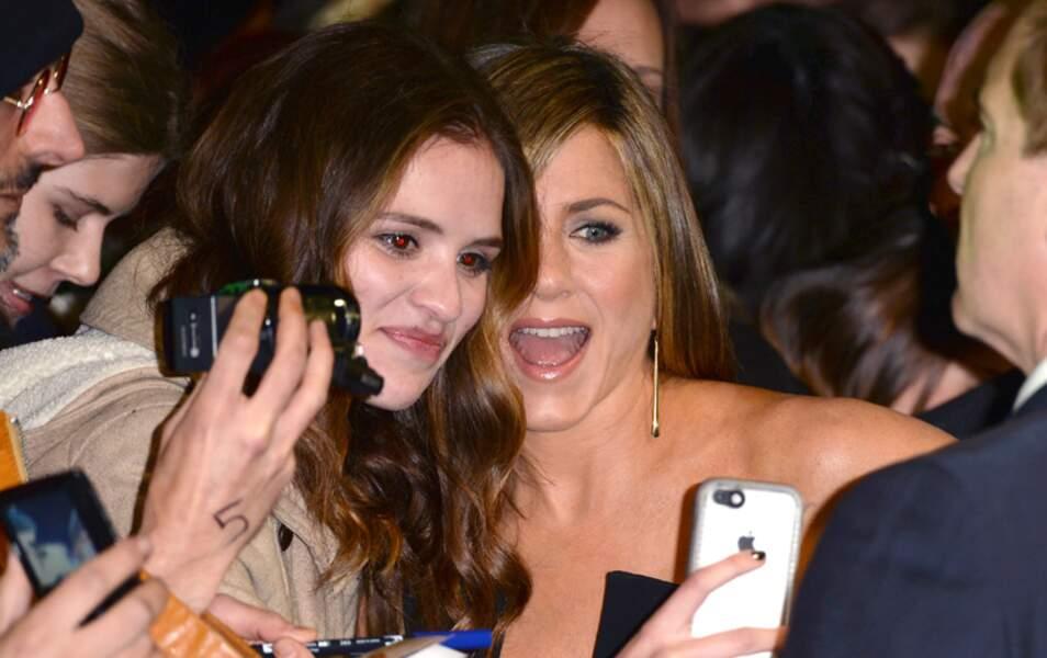 L'actrice, toujours proche de ses fans