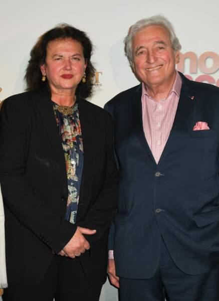 Jean-Loup Dabadie avec sa femme Véronique Bachet à l'avant-première de Mon Inconnue, le 1er avril, à Paris