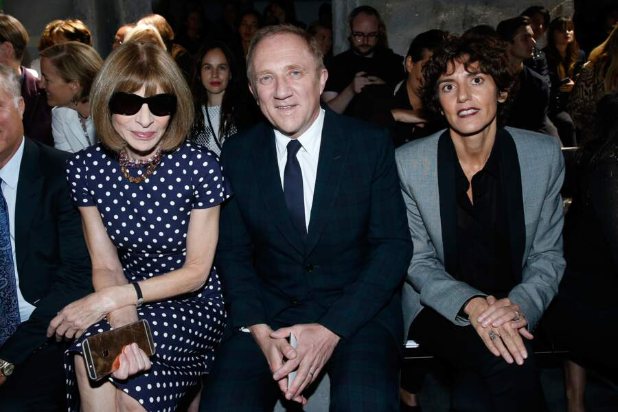 Fashion Week défilé Saint Laurent : Anna Wintour et François-Henri Pinault