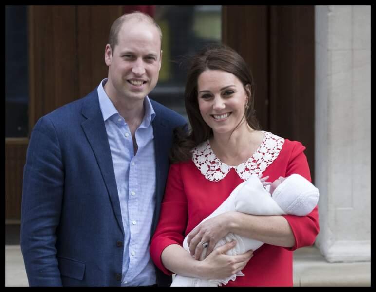 Le prince William, Kate Middleton et leur petit Louis