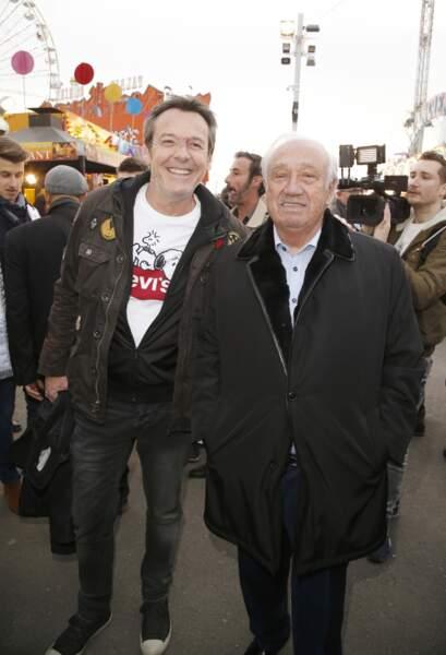 Jean-Luc Reichmann et Marcel Campion à l'inauguration de la Foire du Trône