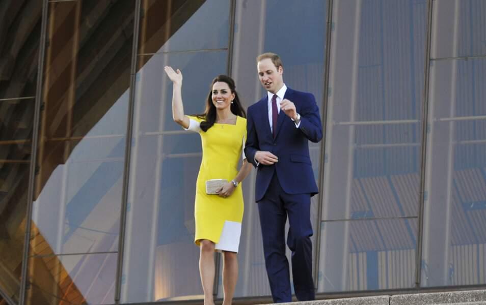 Le duc et la duchesse de Cambridge arrivent à l'Opera House de Sydney