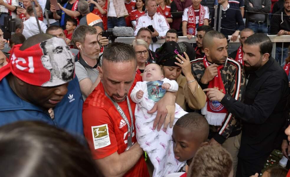 Franck Ribéry et sa fille Keltoum