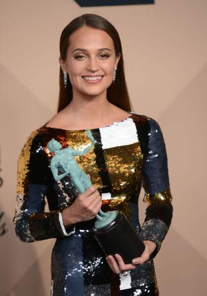 Meilleure actrice dans un second rôle : Alicia Vikander