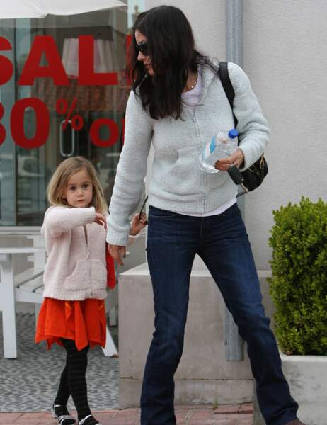 Courteney Cox et sa fille Coco petite...