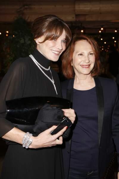 Carla Bruni et Nathalie Baye au dîner Dior et Vogue lors du Festival de Cannes