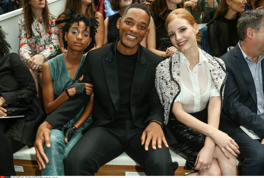 Défilé Chanel Haute Couture : Will et Willow Smith au premier rang avec Jessica Chastain