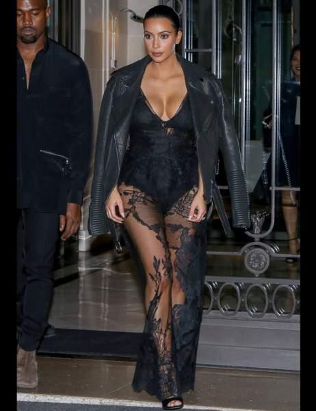Voilà donc la tenue préférée de toutes celles portées par Kim Kardashian en 2014