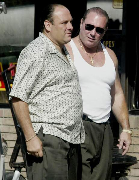 James Gandolfini et sa doublure dans The Sopranos