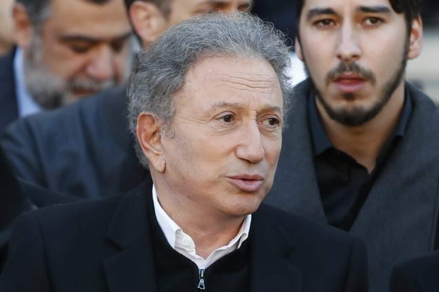Michel Drucker à l'hommage national à Charles Aznavour