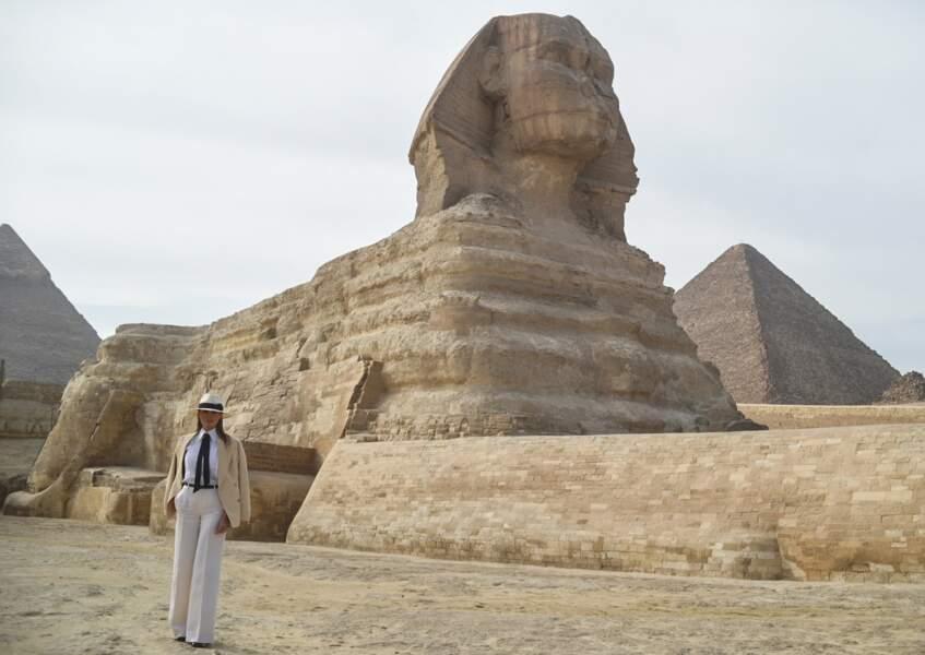 Melania Trump a également posé devant le Sphinx