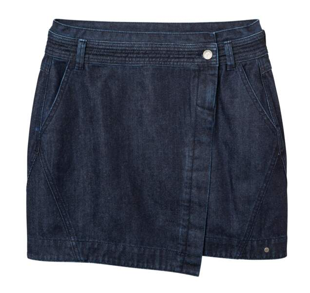 Jupe en denim Rebirth. 44.99€, Bonobo Jeans.