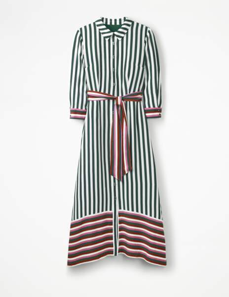 Boden. Robe chemise de longueur midi Mallory, 160 €
