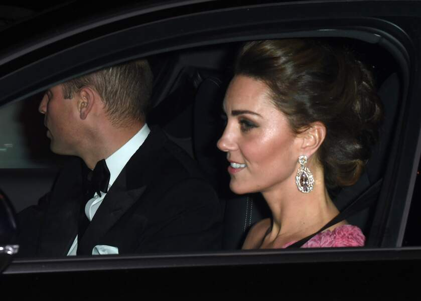 Le prince William et Kate Middleton à l'anniversaire du prince Charles