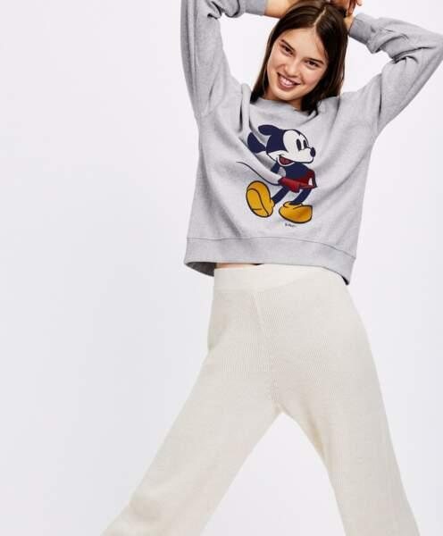 Sweat gris Mickey Mouse, Oysho, 29,99€