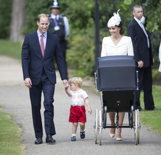 Prince William, Prince George, Kate Middleton et Princesse Charlotte