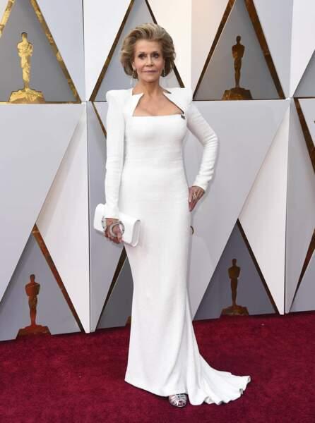Jane Fonda à la 90e cérémonie des Oscars, à Los Angeles le 4 mars 2018