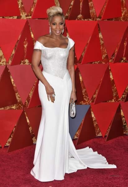 Mary J. Blige à la 90e cérémonie des Oscars, à Los Angeles le 4 mars 2018
