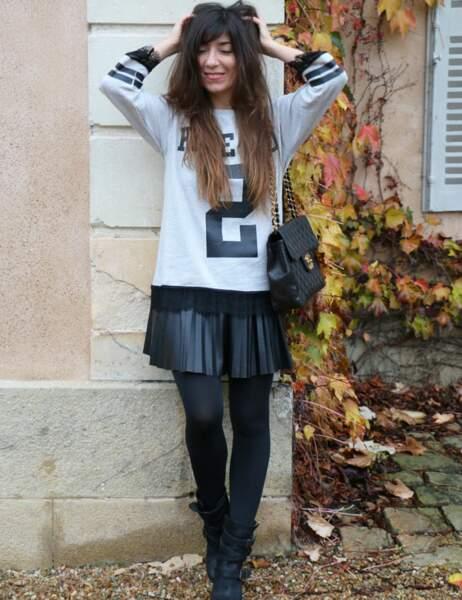 Marieluvpink en jupe plissée Only