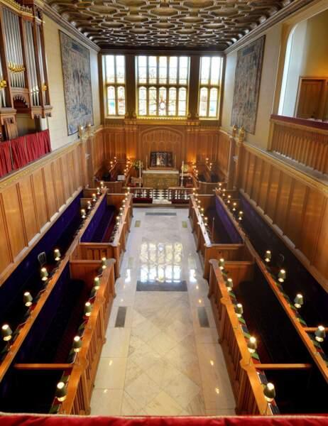 La chapelle de St James Palace vue de l'intérieur