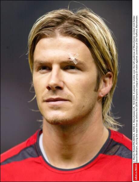 David Beckham en 2003: il se rapproche dangereusement du mulet
