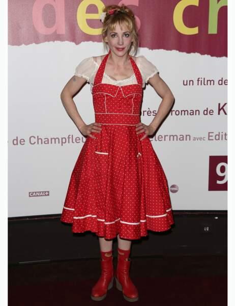 Julie Depardieu et son déguisement très réussi d'Heidi