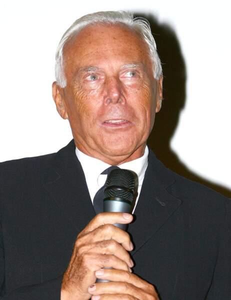 Le styliste Giorgio Armani
