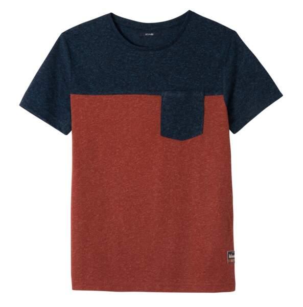 Tee-shirt bicolore. 8€, Kiabi.
