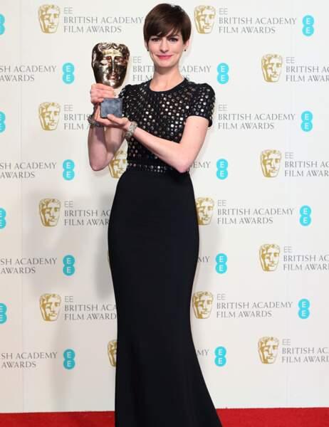 Anne Hathaway a reçu le Bafta de la meilleure actrice dans Les Misérables