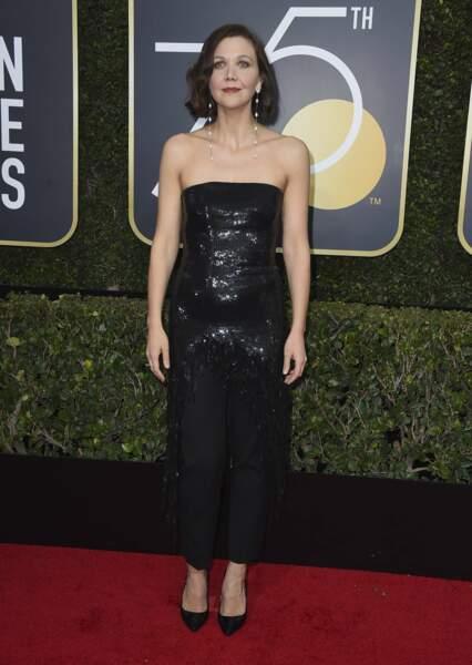 Maggie Gyllenhaal lors de la 75e cérémonie des Golden Globes, le 7 janvier 2018