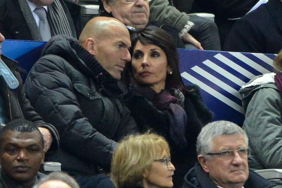 Le champion a assisté au match avec son épouse, Véronique
