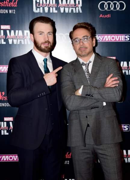 Avant-première Captain America: Civil War - Chris Evans & Robert Downey Jr ne se font la guerre que sur grand écran