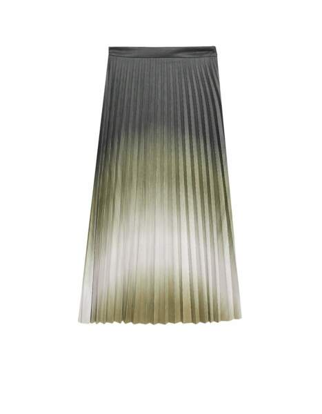Jupe plissée tie and dye, Stradivarius, 39,99€