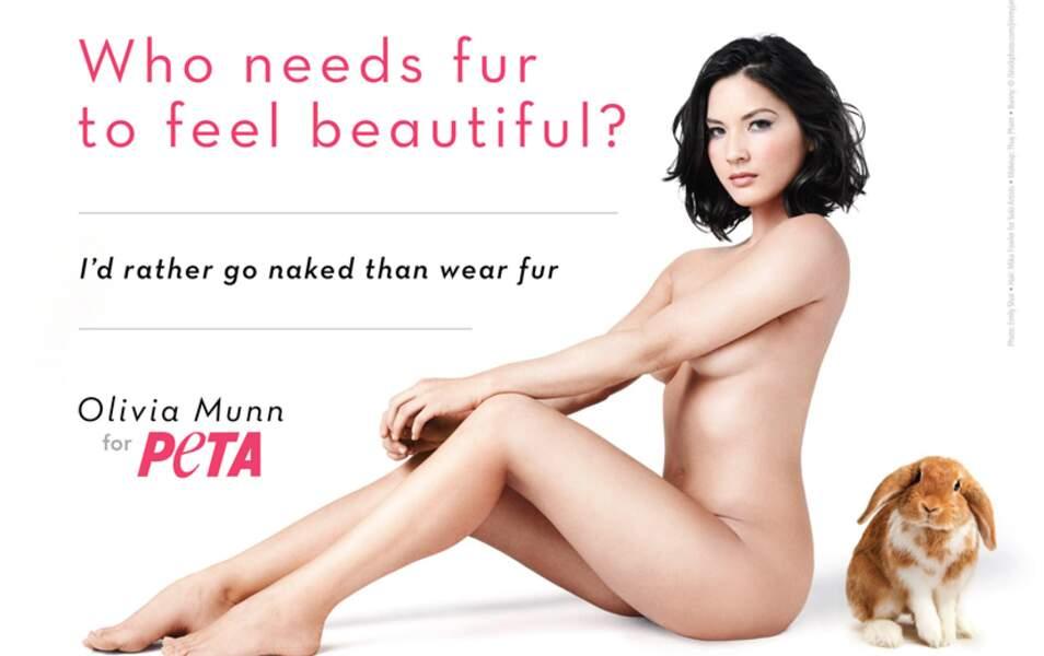Olivia Munn pour la Peta