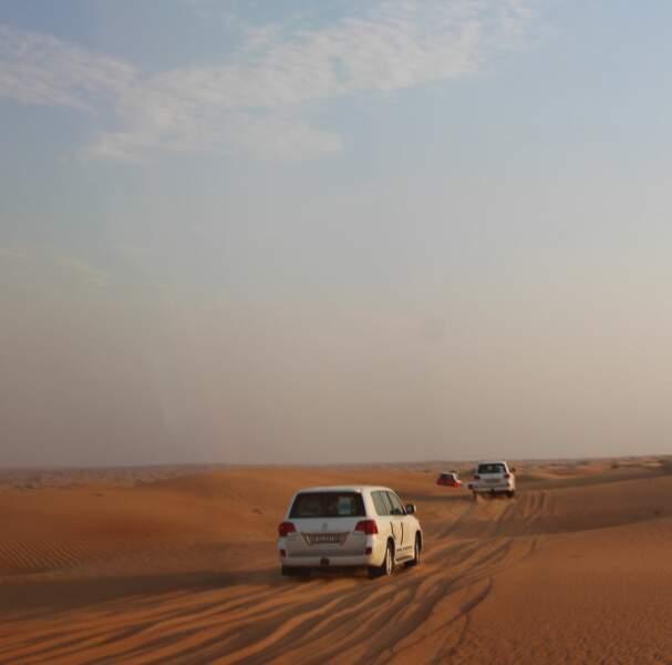 Départ dans le désert en 4x4