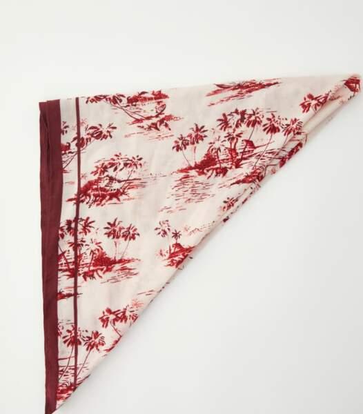 Foulard imprimé toile de jouy, Pull & Bear, 9,99euros